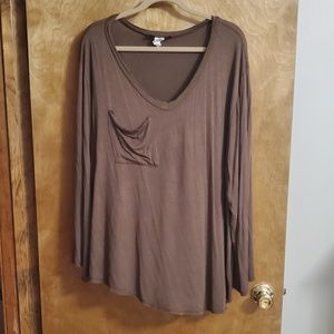 Brown boutique top